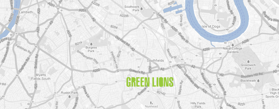 Green Lions near New Cross Gate station, London